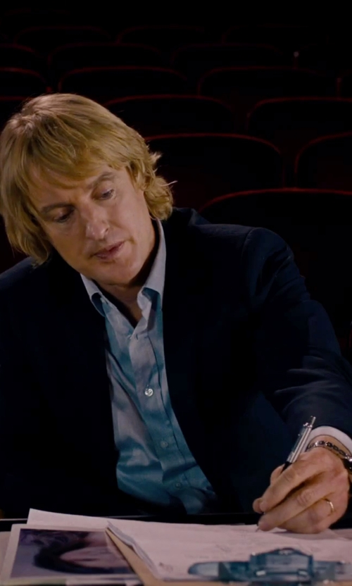 Owen Wilson with River Island Blue Skinny Suit Jacket in She's Funny That Way