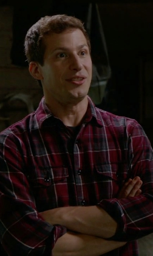 Andy Samberg with J.Crew Midweight Flannel Shirt In Vintage Chimney Plaid in Brooklyn Nine-Nine