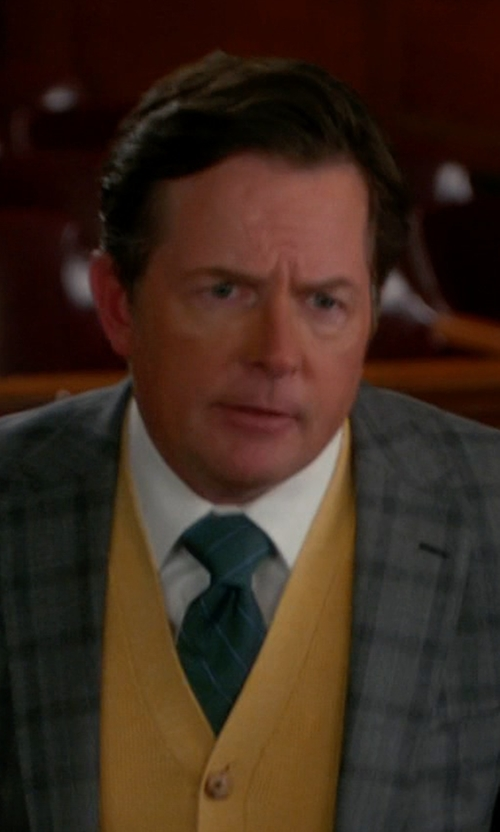 Michael J. Fox with Haggar Heritage Striped Tie in The Good Wife
