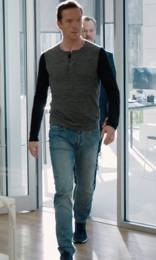 Damian Lewis with Nike Internationalist Sneakers in Billions