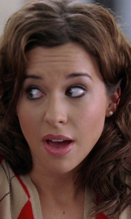 Lacey Chabert with Majorica Round Pearl Studs in Mean Girls