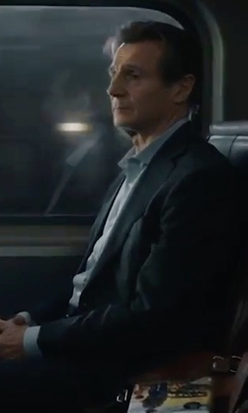 Liam Neeson with Hart Schaffner Marx New York Classic Fit Wool Suit in The Commuter