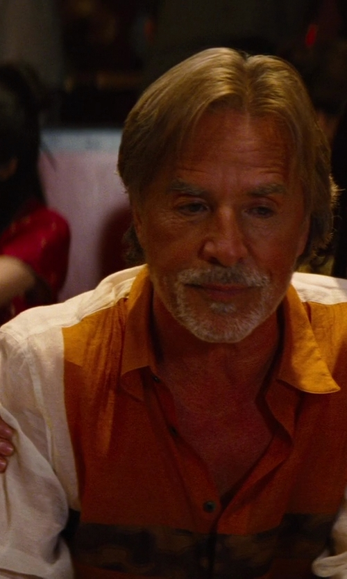 Don Johnson with Etienne Ozeki Seeme White Long Sleeve Rohit Shirt in The Other Woman