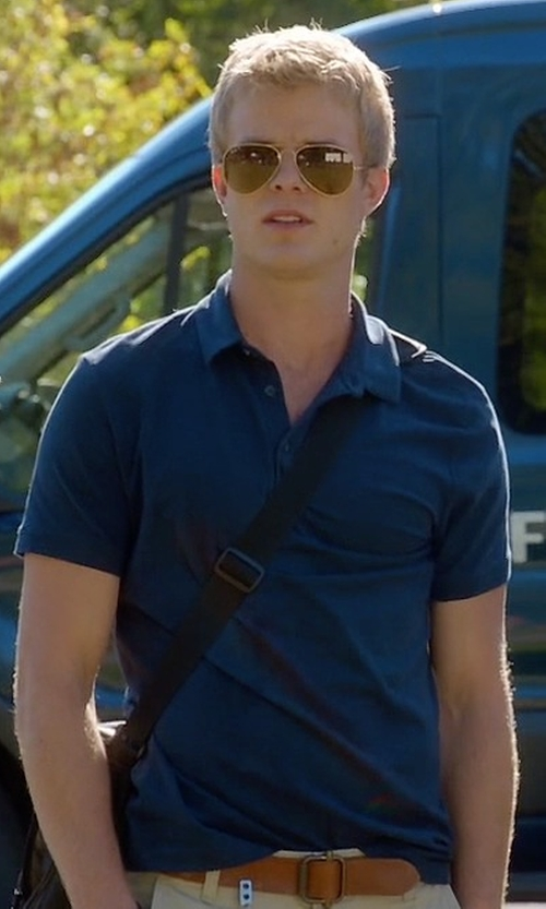 Graham Rogers with Polo Ralph Lauren Custom-Fit Stretch-Mesh Polo Shirt in Quantico