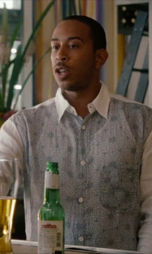 Ludacris with Just Cavalli Print Cotton Shirt in No Strings Attached