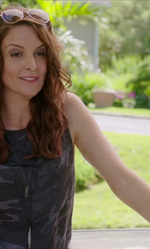 Tina Fey with Mandala Crafts Metal Stud Wrap Around Bracelet in Sisters