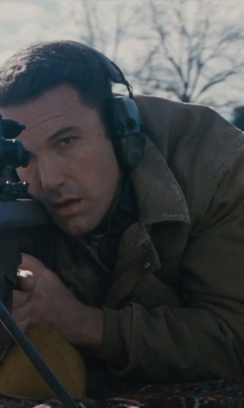 Ben Affleck with Carhartt Sandstone Rancher Coat in The Accountant
