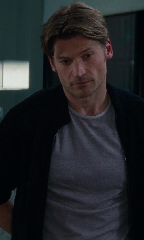 Nikolaj Coster-Waldau with Dolce & Gabbana Relief Knit Cardigan in The Other Woman