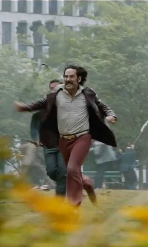 Paul Rudd with Gant Rugger Linen Hopsack Belt in Anchorman 2: The Legend Continues