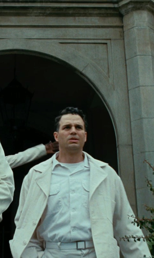 Mark Ruffalo with Tailor Vintage Classic Fit Flat Front Chinos in Shutter Island