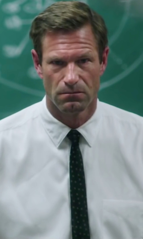Aaron Eckhart with Forzieri Gold Line Polkadot Woven Silk Tie in My All American