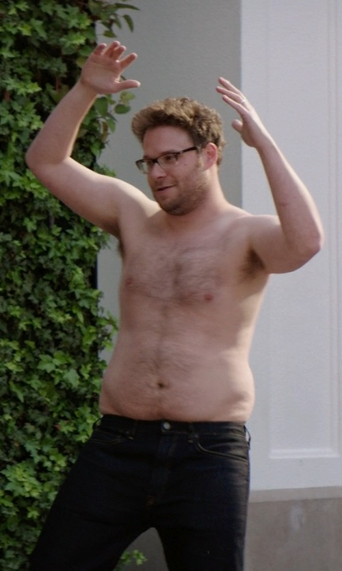 Seth Rogen with Theory Haydin Twill 5 Pocket Pants in Neighbors