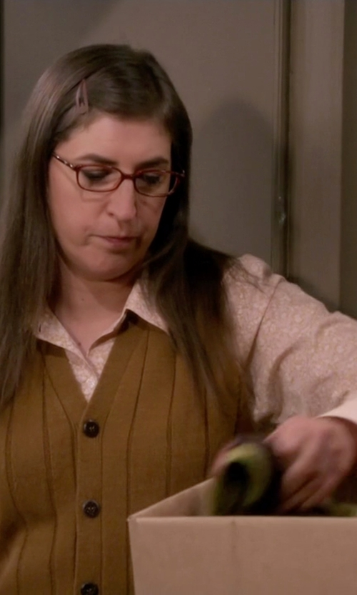 Mayim Bialik with Rails Women's Rocsi Floral Button Down Shirt in The Big Bang Theory