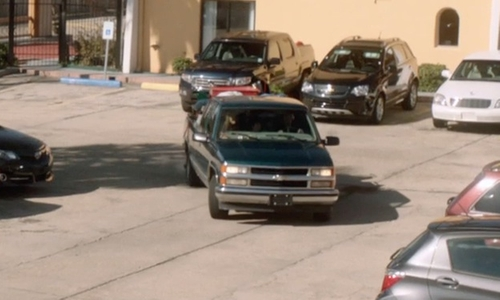 Andrew Garfield with Chevrolet Silverado 1500 Pick Up Truck in 99 Homes