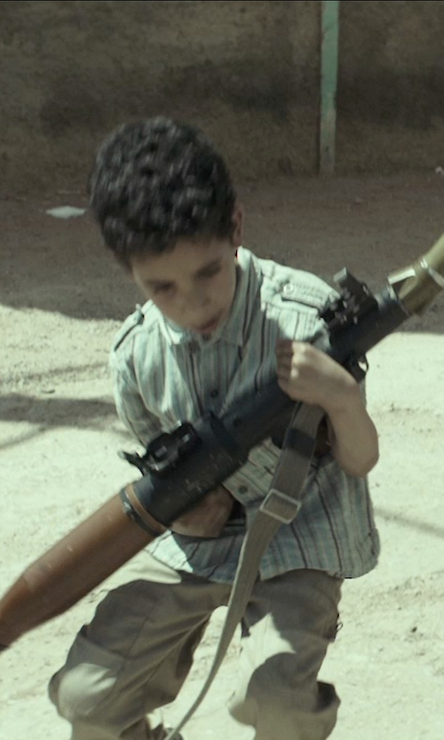 Unknown Actor with Fazzio Stripe Button-Down Shirt in American Sniper