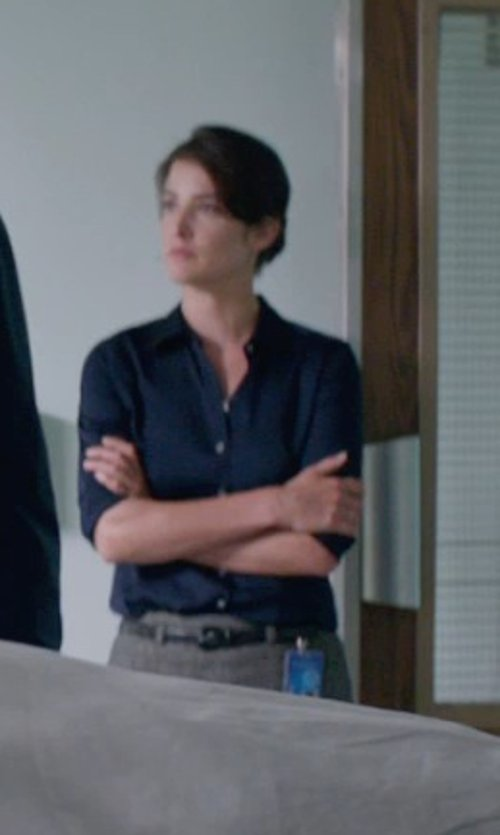 Cobie Smulders with RENA LANGE Knee length skirt in Captain America: The Winter Soldier
