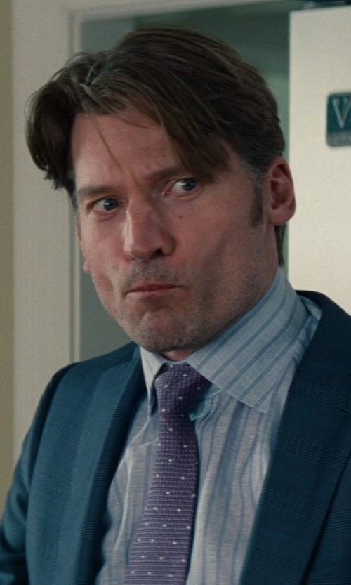 Nikolaj Coster-Waldau with Corneliani Fine Striped Dress Shirt in The Other Woman