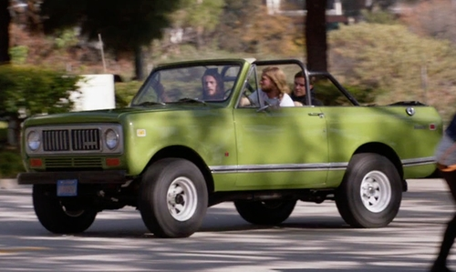 Jake Weary with International Harvester Scout SUV in Animal Kingdom