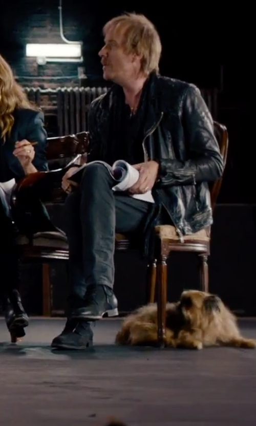 Rhys Ifans with Base London Cumin Boot Lace-Up Boot in She's Funny That Way