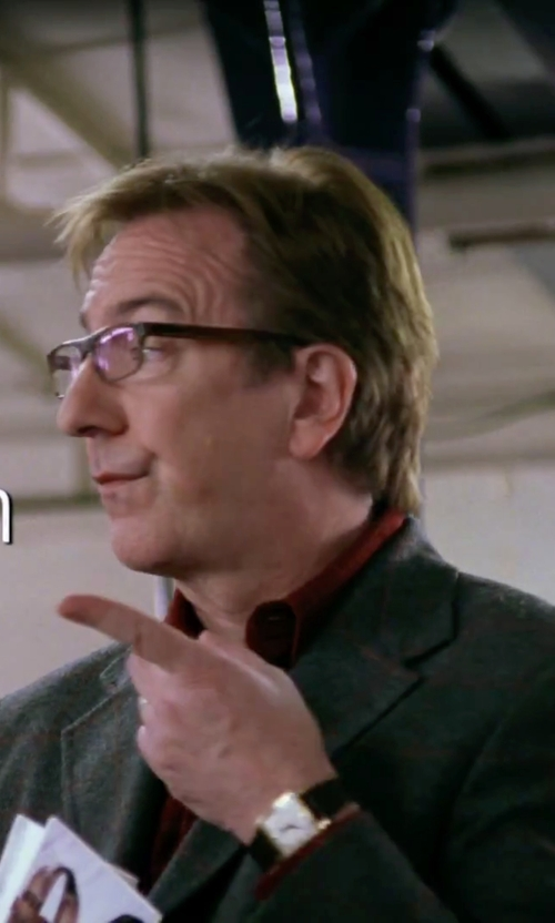 Alan Rickman with Calvin Klein Analog Display Swiss Quartz Watch in Love Actually