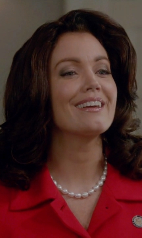 Bellamy Young with Nina 'Indra' Shell Pearl Choker in Scandal