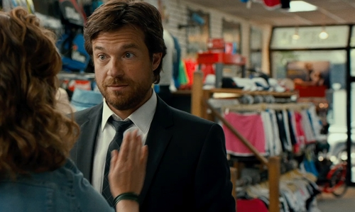 Jason Bateman with Tennis Junction (depicted as Altman Sporting Goods) Nassau County, New York in This Is Where I Leave You