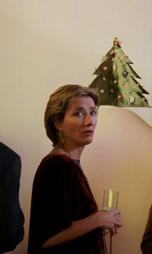 Emma Thompson with Julia Jordan Eyelet Sheath Dress in Love Actually