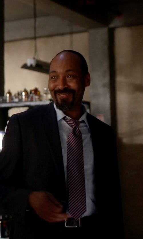 Jesse L. Martin with Ermenegildo Zegna Stripe Silk Tie in The Flash