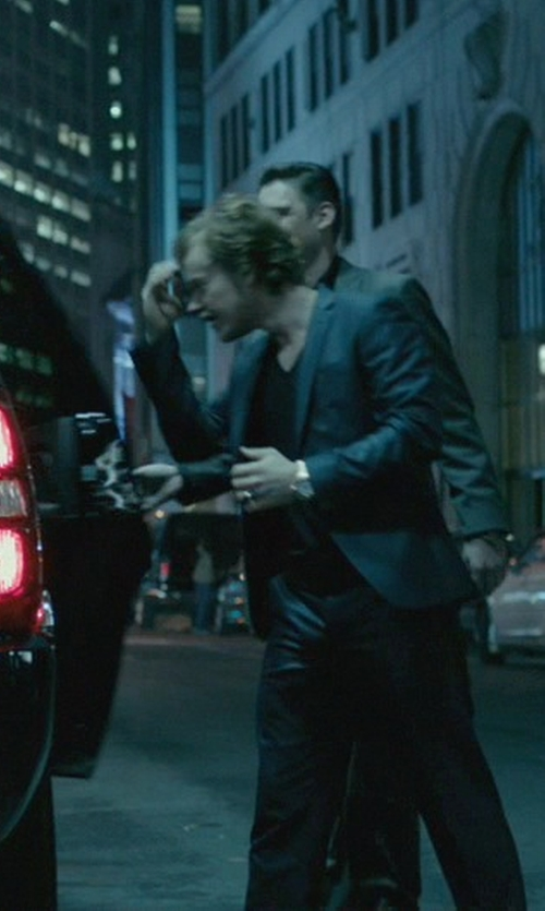 Alfie Allen with Versace Apollo Gold Dial Rose Watch in John Wick