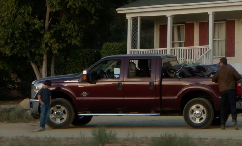 Unknown Actor with GMC Sierra 2500HD Pickup Truck in Sinister 2