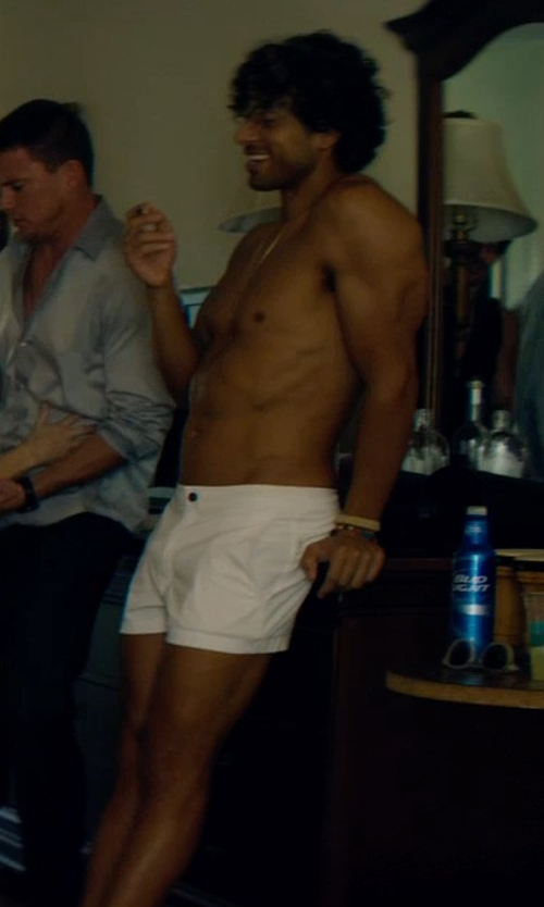 Adam Rodriguez with Polo Ralph Lauren Relaxed-Fit Chino Shorts in Magic Mike XXL