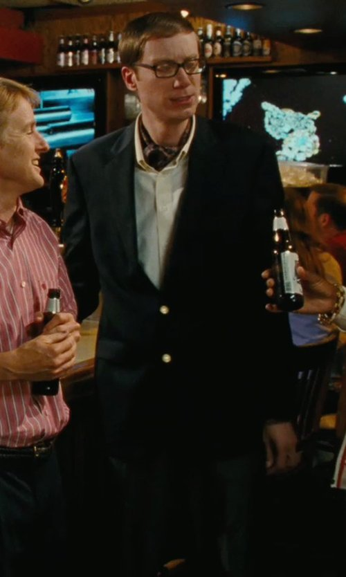 Stephen Merchant with Lands' End Men's Long Pleat Front Traditional Fit Year'rounder Wool Dress Pants in Hall Pass