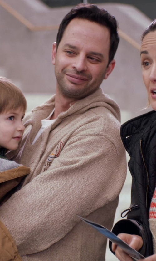 Nick Kroll with Standard James Parse Crew Neck T-Shirt in Adult Beginners