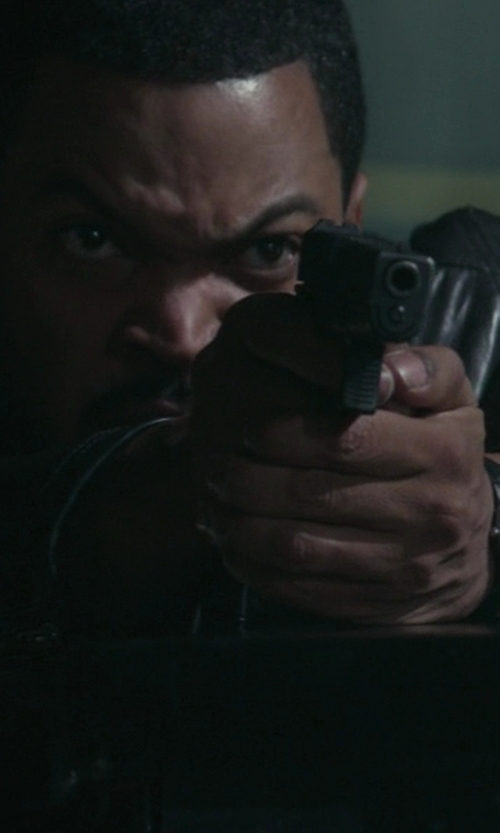 Ice Cube with Victorinox Swiss Army Alliance Men´s Black Leather Watch in Ride Along