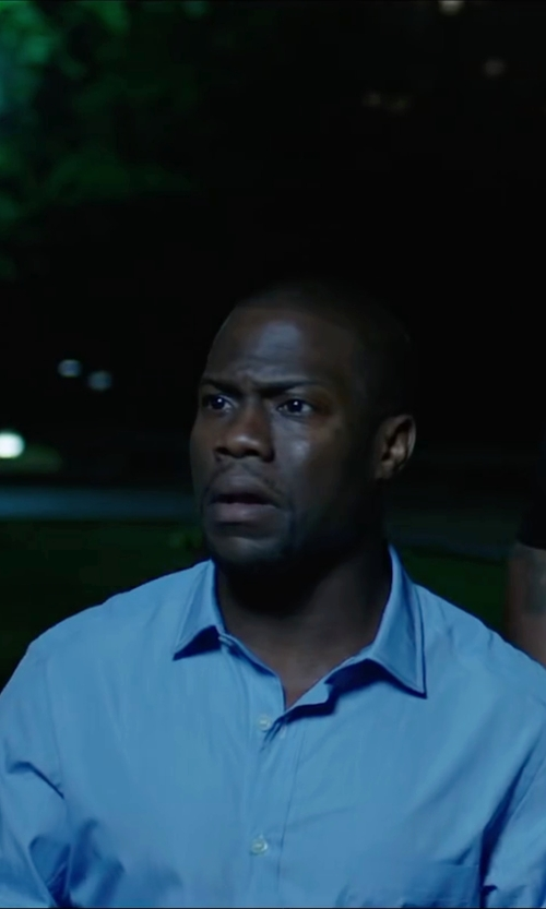 Kevin Hart with Anto Beverly Hills Light Blue Herringbone Dress Shirt in Central Intelligence