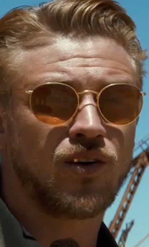 Boyd Holbrook with Ray-Ban Round Sunglasses in Logan