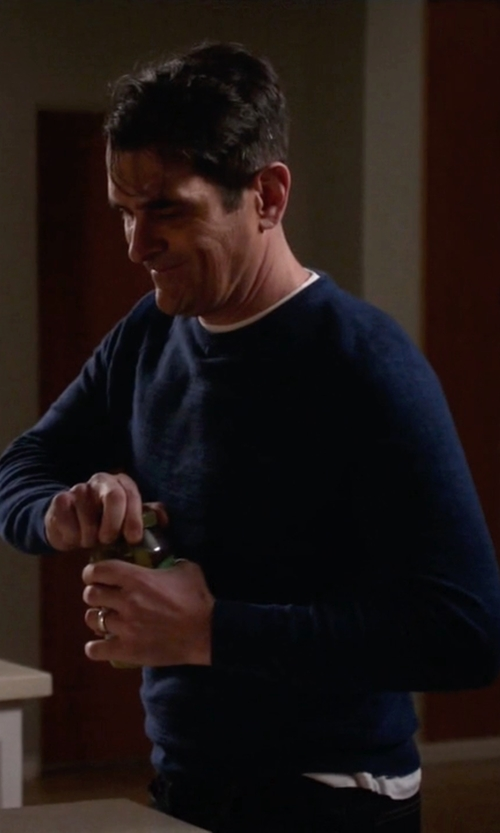 Ty Burrell with J.Crew Slim Rugged Cotton Sweater in Modern Family