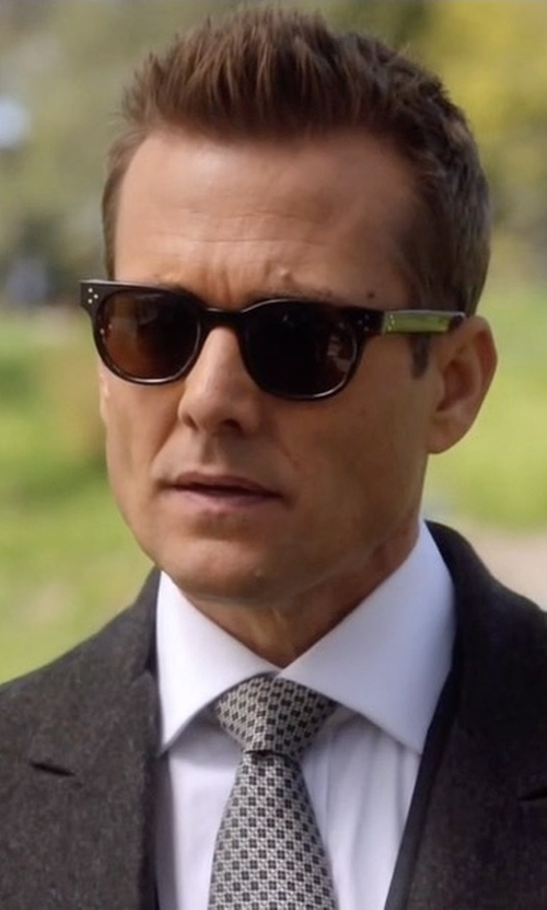 Gabriel Macht with Oliver Peoples Finley Esq. 51 Acetate Polarized Sunglasses in Suits