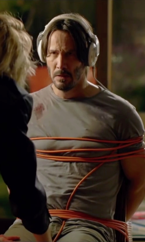 Keanu Reeves with Philips O'neill  Over-Ear Headphones in Knock Knock