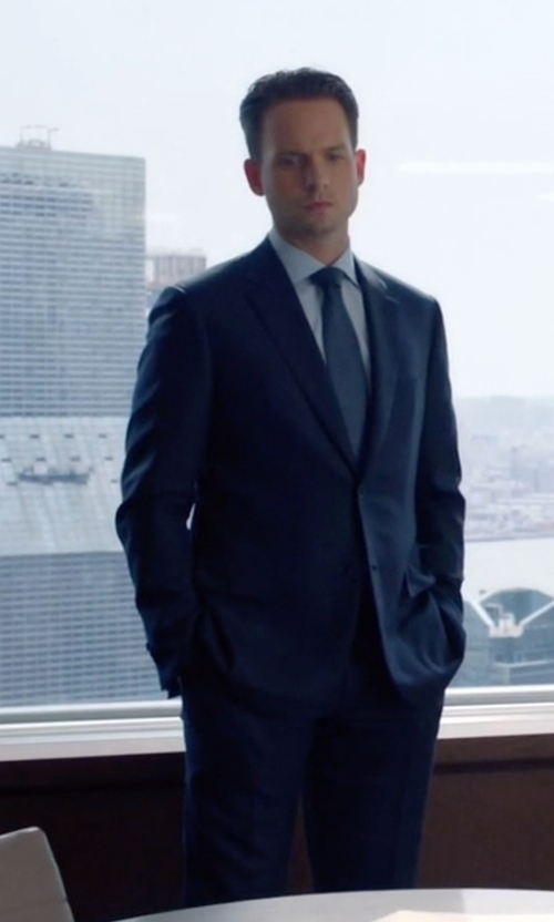 Patrick J. Adams with Paul Smith Two Piece Suit in Suits