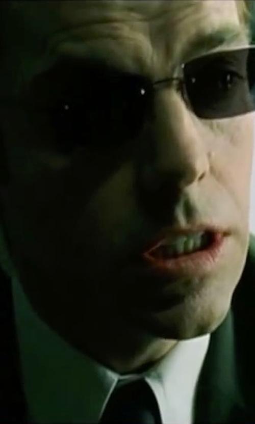 Hugo Weaving with Hugo Boss Men's Solid Two-Piece Suit in The Matrix