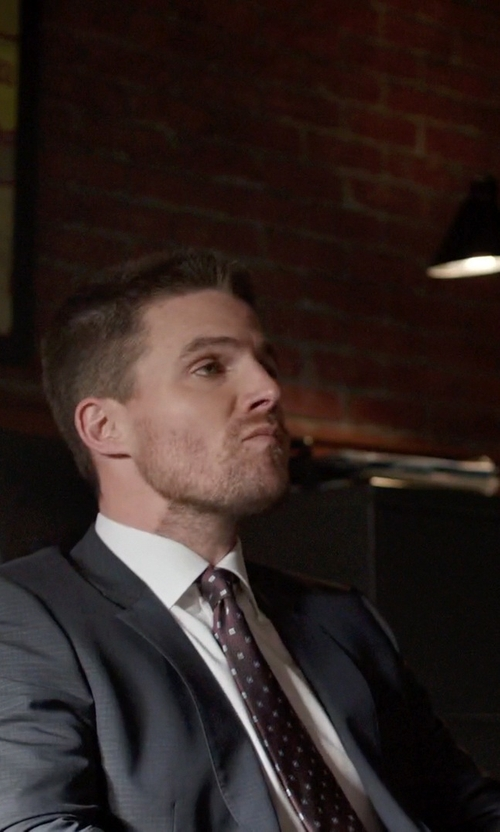 Stephen Amell with Ted Baker London 'Jones' Trim Fit Wool Suit in Arrow
