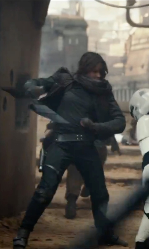 Felicity Jones with Charli Judy Legging Pants in Rogue One: A Star Wars Story