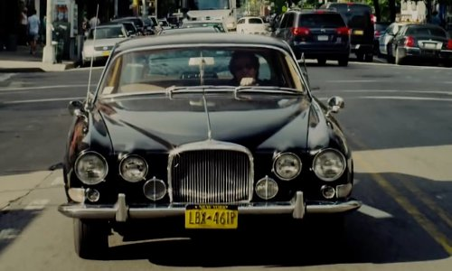 Mark Ruffalo with Jaguar 1963 Mark X Car in Begin Again