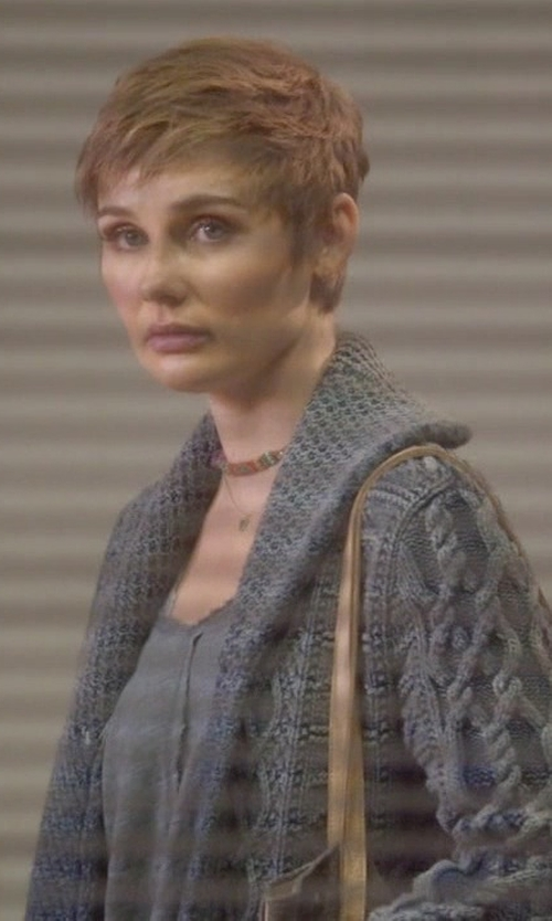 Clare Bowen with Alpha Massimo Rebecchi Knitted Cardigan in Nashville