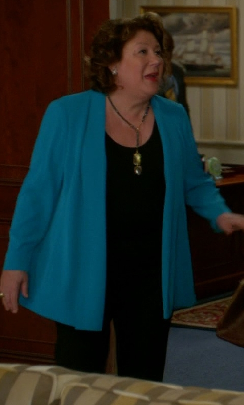 Margo Martindale with Alice + Olivia Hart Stretch-Wool Pants in The Good Wife