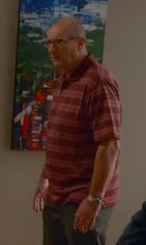 Ed O'Neill with Nike Golf Ultra Stripe Polo Shirt in Modern Family