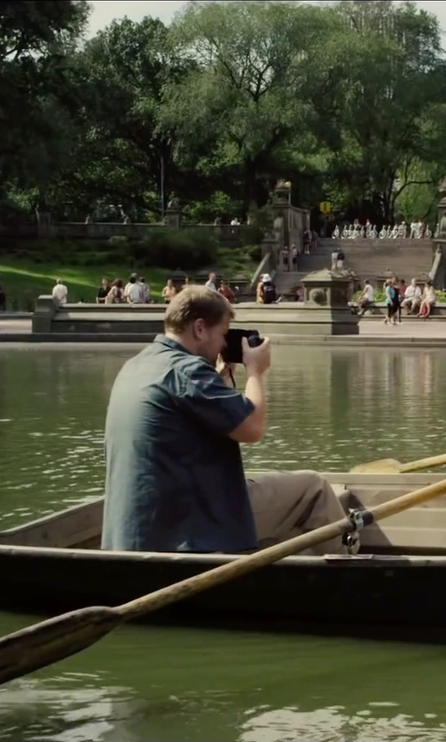James Corden with J. Crew Secret Wash Short-Sleeve Shirt in Begin Again