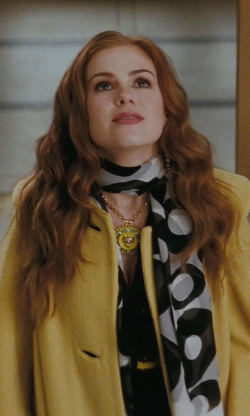 Isla Fisher with Mouche Wool Coat in Confessions of a Shopaholic
