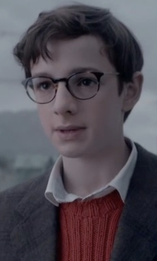 Louis Hynes with Barton Perreira Norton Tortoise Shell Round Eyeglasses in Lemony Snicket's A Series of Unfortunate Events